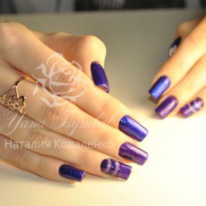 Коррекция гелевых ногтей с покрытием гель лаком негативное пространство