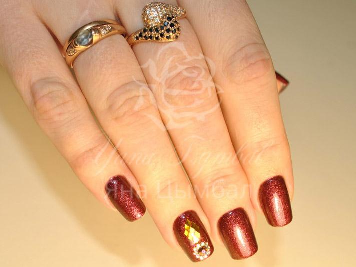 Коррекция гелевых ногтей фото