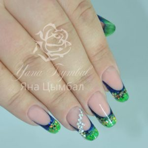 Наращивание ногтей гелем фан френч