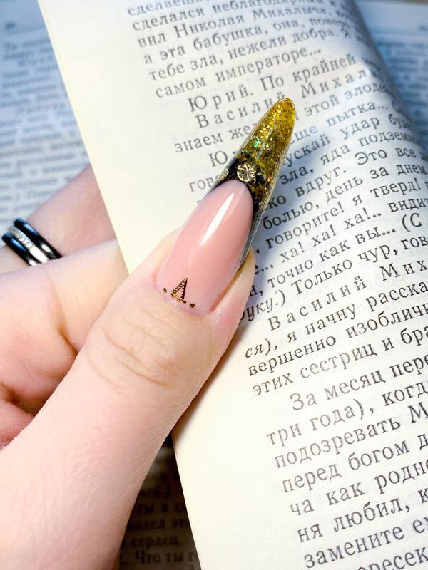 Арочные ногти гелем выкладной френч
