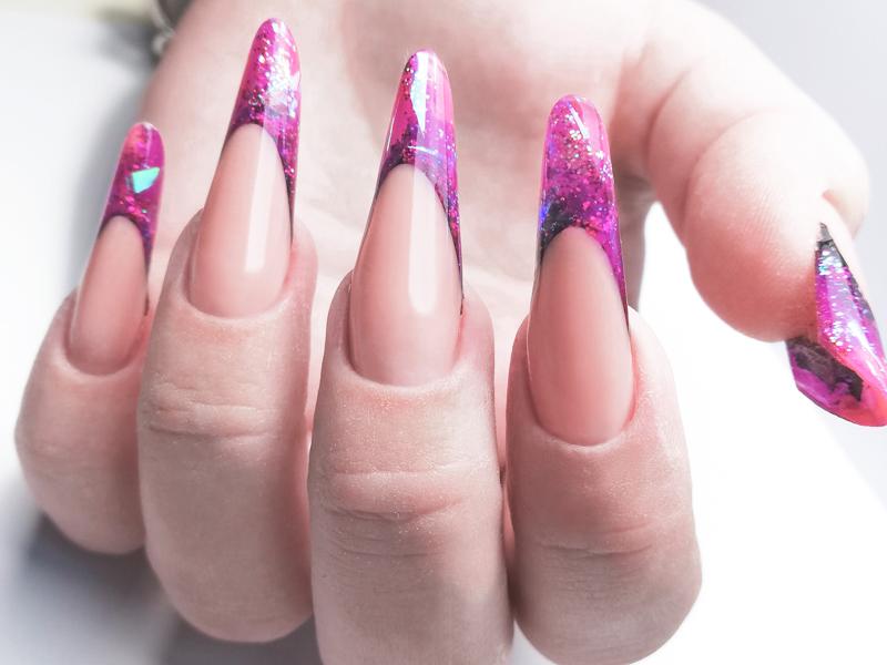 Арочные ногти Выкладной френч