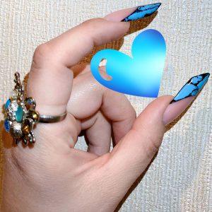 Гелевое наращивание ногтей выкладной френч