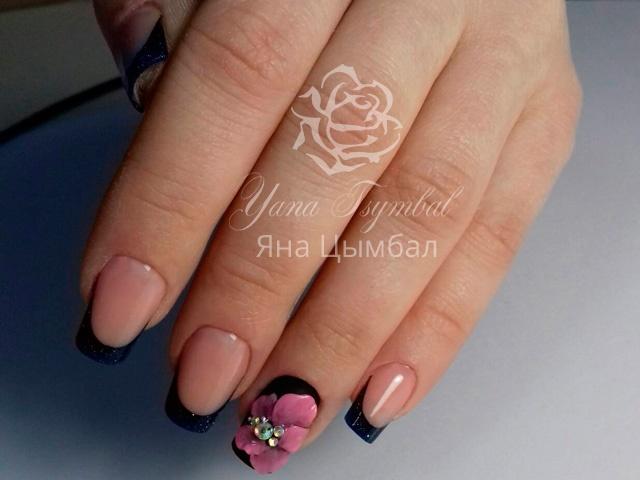 Коррекция арочных ногтей плоскостная лепка