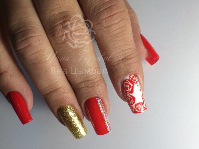 Наращивание ногтей Киев коррекция арочных ногтей