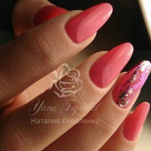 Наращивание ногтей гелем, коррекция гелевых ногтей, гелевый френч, троещина, Киев