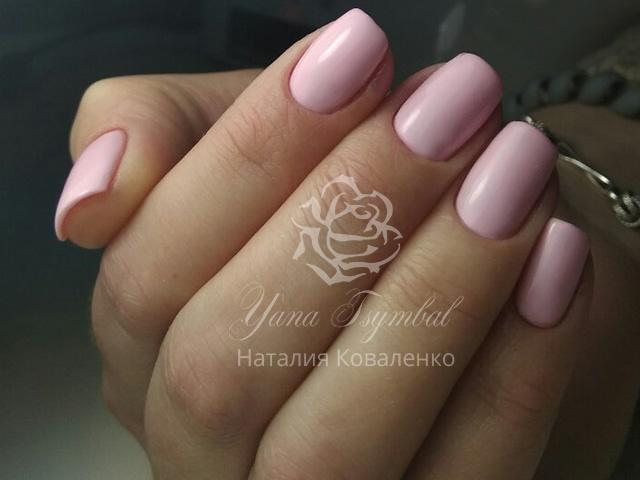 Ногти гель лак розовые