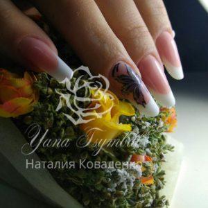 Наращивание арочных ногтей современный миндаль