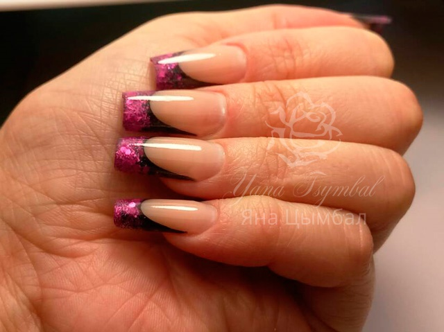 Наращивание гелевых ногтей, коррекция ногтей гелем, гелевый френч, троещина, Киев