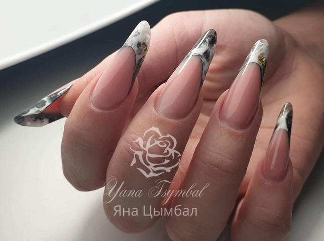 Арочные ногти френч Киев, Троещина